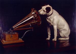 RCA-dog-listening social media strategy