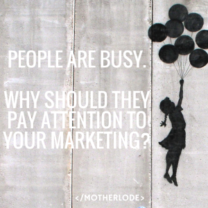 people are busy - marketing