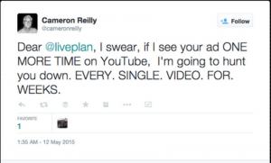 liveplan podcast complaint youtube