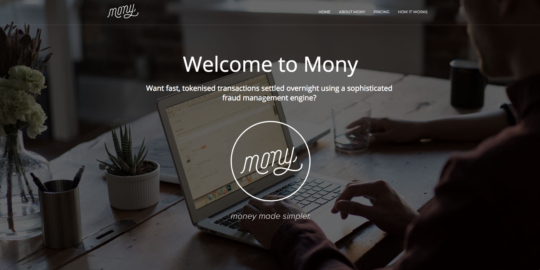 mony payments website developed by motherlode agency